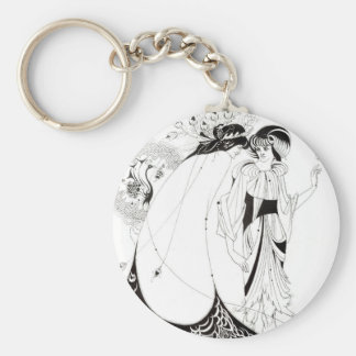 Aubrey Beardsley The Peacock Skirt Key Chain