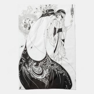 Aubrey Beardsley The Peacock Skirt Kitchen Towel
