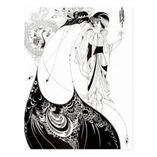 Aubrey Beardsley The Peacock Skirt Postcard