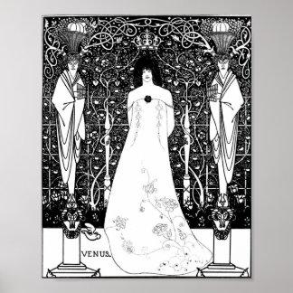 Aubrey Beardsley Venus Between Terminal Gods Poster