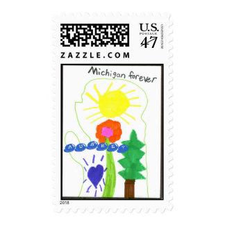 aubrey  east olive1p, AUBREY Stamp