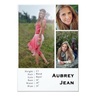 "Aubrey Jean Comp Card | Design One 3.5"" X 5"" Invitation Card"