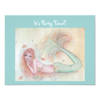 Aubrey sweet mermaid party invitations By Renee