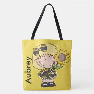 Aubrey's Personalized Sunflower Tote Bag