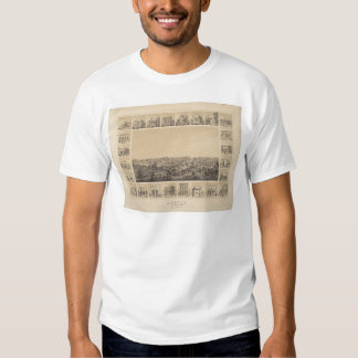 Auburn, California 1857 Panoramic Map (2508A) Shirt