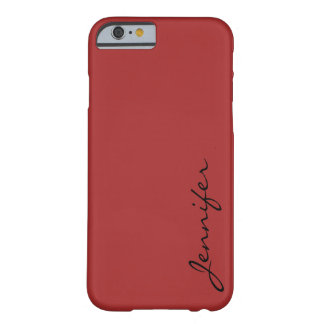 Auburn color background barely there iPhone 6 case