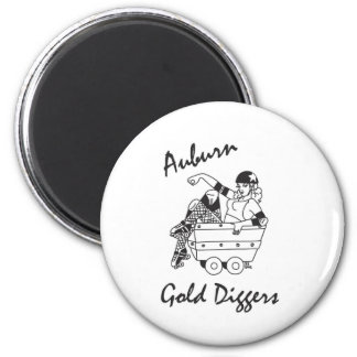 Auburn Gold Diggers Black and White Logo Magnet