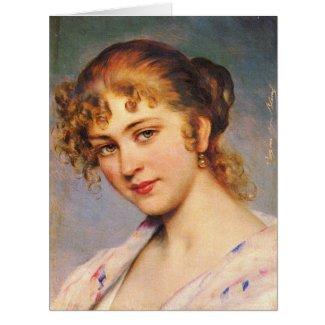Auburn Hair 1880 Card