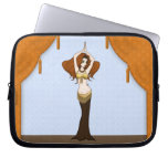 Auburn Haired Bellydancer in Brown & Gold Laptop Sleeves