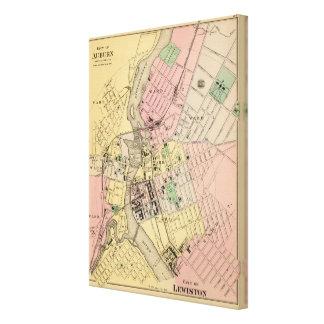 Auburn, Lewiston Canvas Print