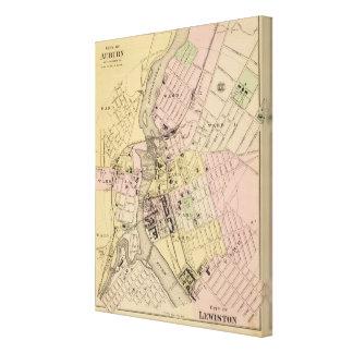 Auburn, Lewiston Map Canvas Print