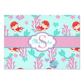 Auburn Mermaid Thank You Card