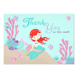 Auburn Mermaid Thank You Announcement