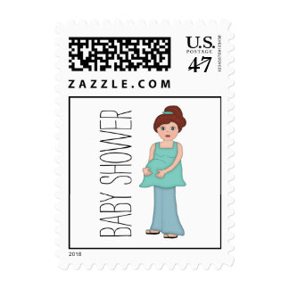 Auburn Modern Mom Baby Shower Postage