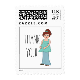 Auburn Modern Mom Thank You Postage