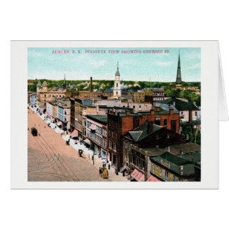 Auburn, New York, Bird's Eye View, Vintage Card
