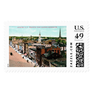 Auburn, New York, Bird's Eye View, Vintage Postage