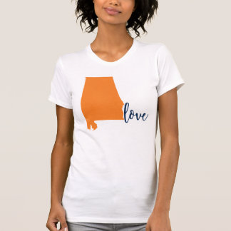 Auburn Orange Navy Alabama University State T-Shirt