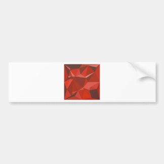 Auburn Red Abstract Low Polygon Background Bumper Sticker