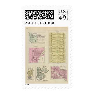 Auburn, Silver Lake, Kilmer, and Richland, Kansas Postage Stamp
