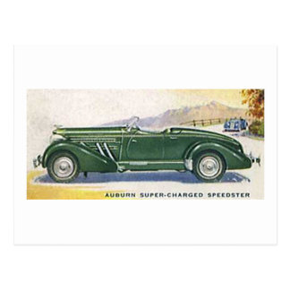 Auburn Super Charged Speedster Postcard