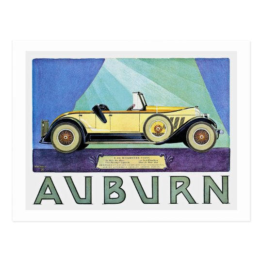Auburn Vintage Auto Advertisement Postcard
