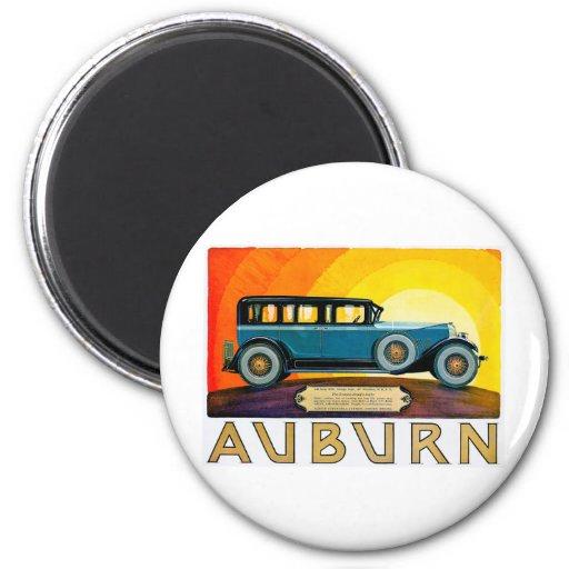 Auburn ~ Vintage Motor Car Advertisement 2 Inch Round Magnet