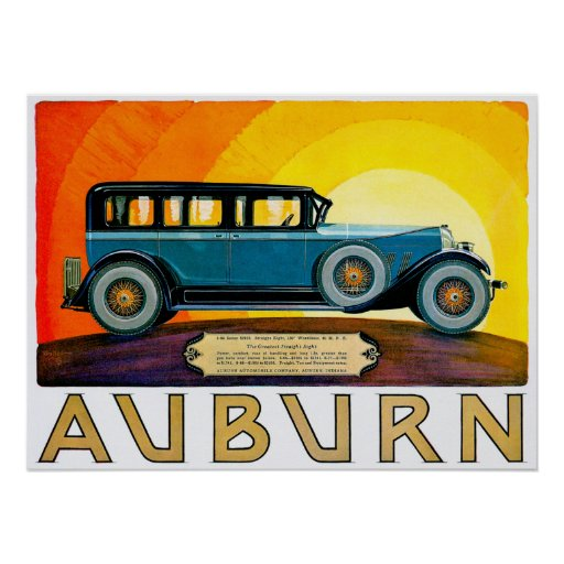 Auburn ~ Vintage Motor Car Advertisement Posters
