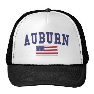 Auburn WA US Flag Trucker Hat