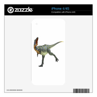 Aucasaurus que da vuelta a la izquierda calcomanía para el iPhone 4