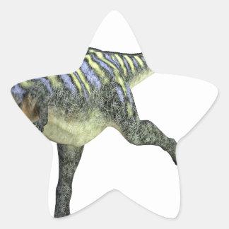 Aucasaurus Turning Left Star Sticker