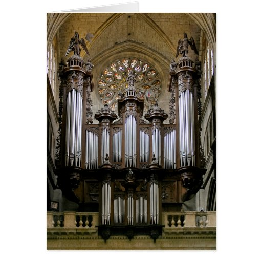 Auch Cathedral organ Greeting Card