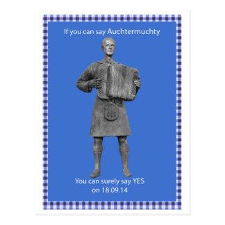 Auchtermuchty Scottish Independence Postcard