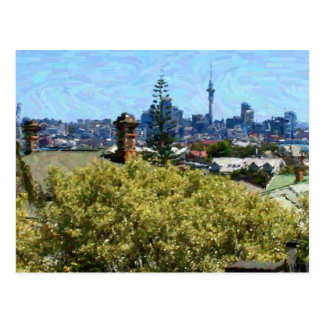 Auckland Across the Rooftops Postcard