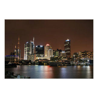 Auckland by Night Poster