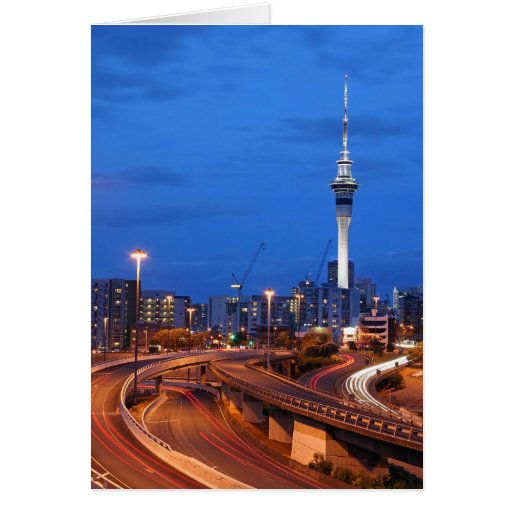 Auckland City at Dusk Card