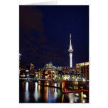 Auckland City, New Zealand at Night Greeting Card
