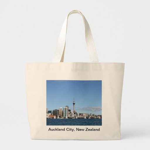 Auckland City, New Zealand by Day Large Tote Bag