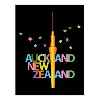 Auckland City New Zealand Post Card