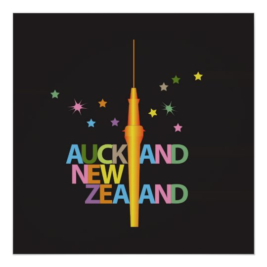 Auckland City New Zealand Poster