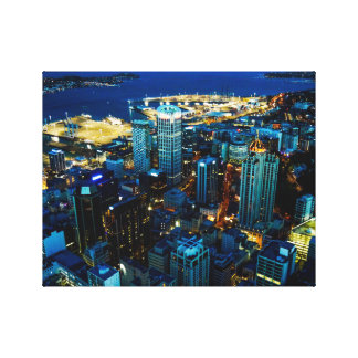 Auckland city view from the Sky Tower Canvas Print