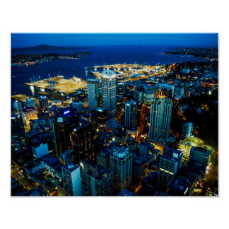 Auckland city view from the Sky Tower - Poster
