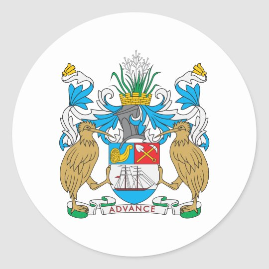 Auckland Coat Of Arms Classic Round Sticker