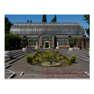 Auckland Domain Winter Gardens Postcard