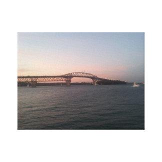 Auckland Harbour Bridge at dusk Canvas Print