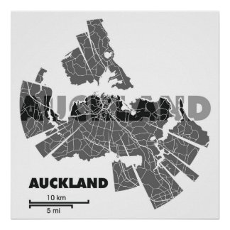Auckland Map Poster