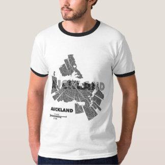 Auckland Map Ringer T-Shirt