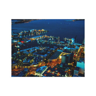 Auckland Marina view from the Sky Tower Canvas Print