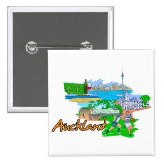 Auckland - New Zealand Pinback Button