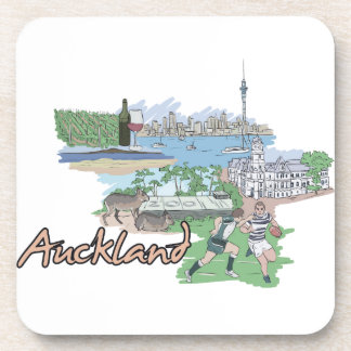 Auckland - New Zealand.png Beverage Coasters